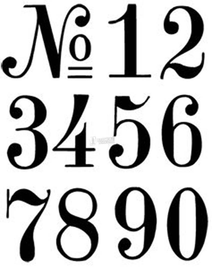 Number Stencils   Crafts   Pinterest   Number Stencils, Letter - Free Printable 3 Inch Number Stencils