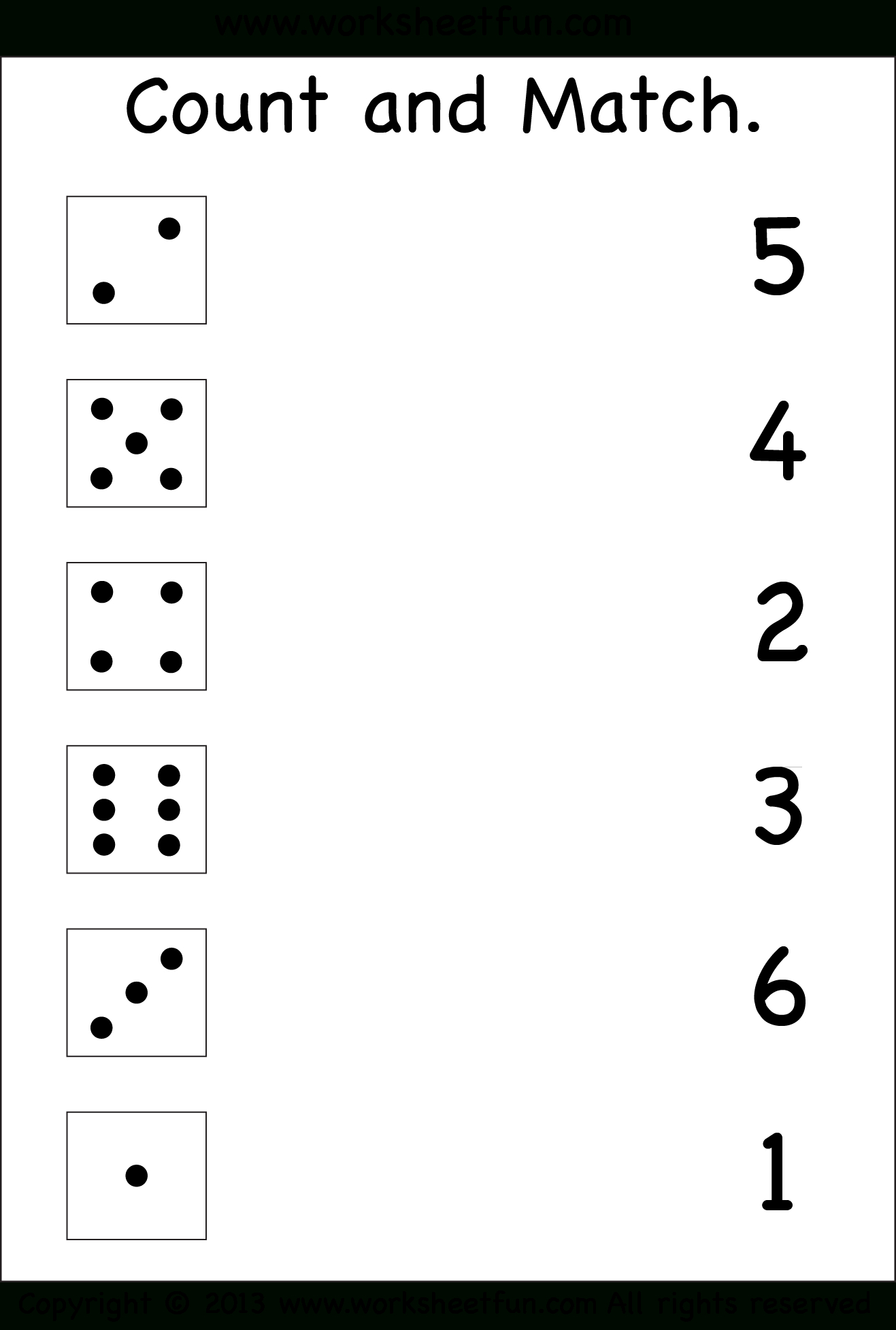 Numbers – Count And Match / Free Printable Worksheets – Worksheetfun - Free Printable Preschool Addition Worksheets