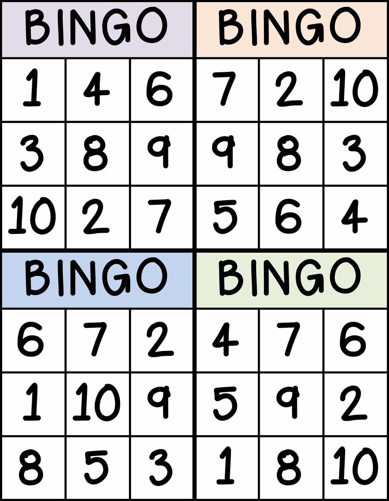 Numbers | Sarah | Numbers Preschool, Preschool Math, Kindergarten Math - Free Printable Number Bingo Cards 1 20