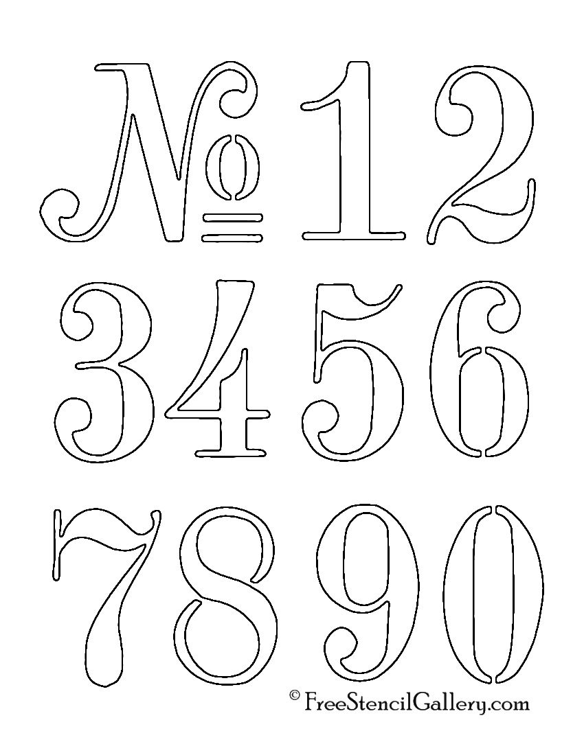 Numbers Stencil … | Outdoor Decor | Stenc… - Free Printable Bubble Numbers