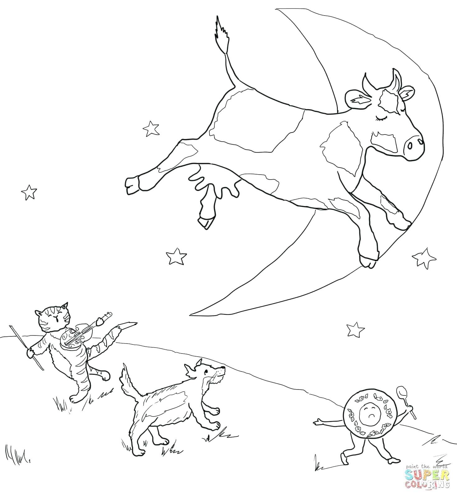 Nursery Rhyme Coloring Pages Hey Diddle Nursery Rhyme Coloring Pages - Free Printable Nursery Rhyme Coloring Pages