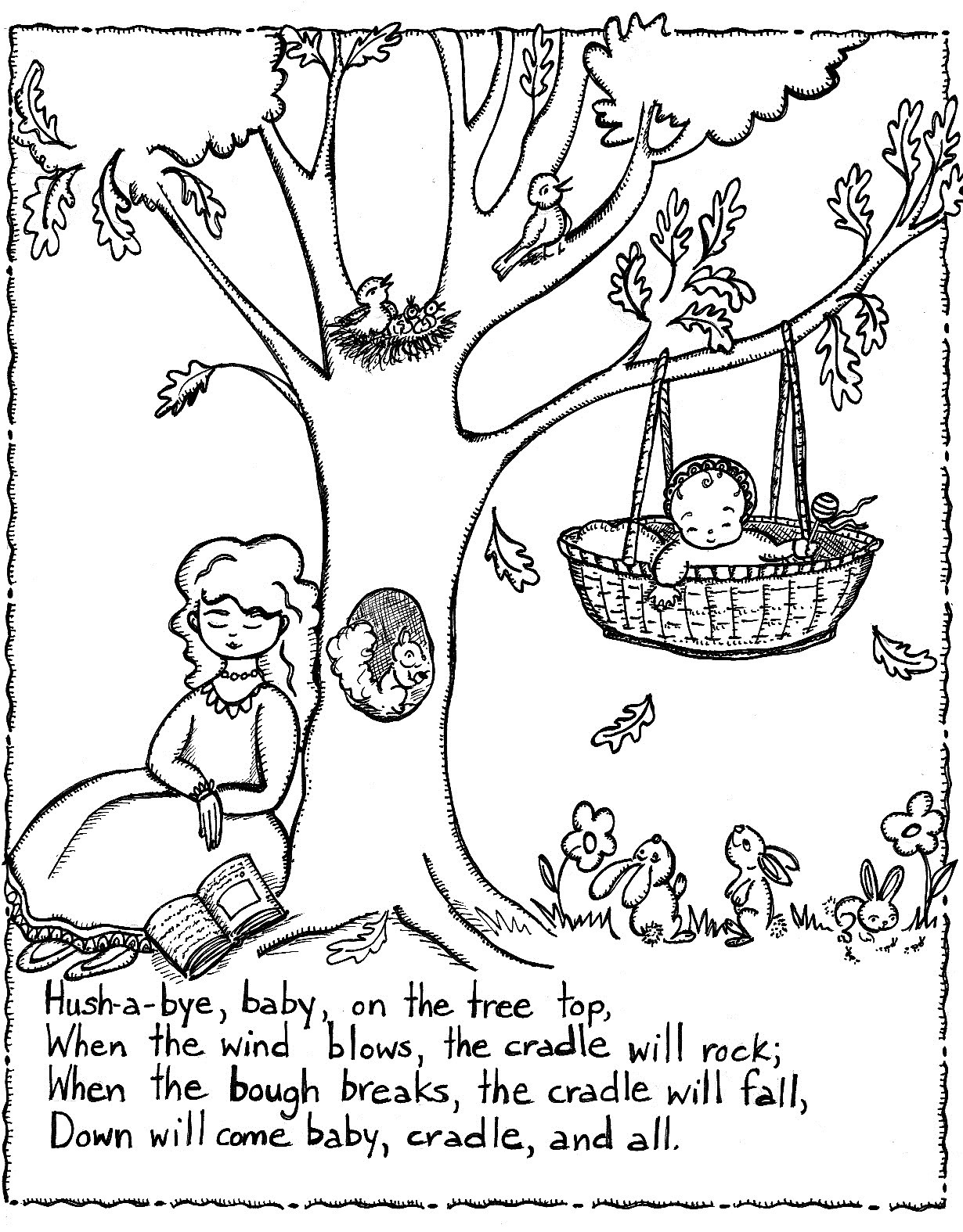 Nursery Rhymes Printables Coloring Pages. Nursery Rhyme Coloring - Free Printable Nursery Rhymes