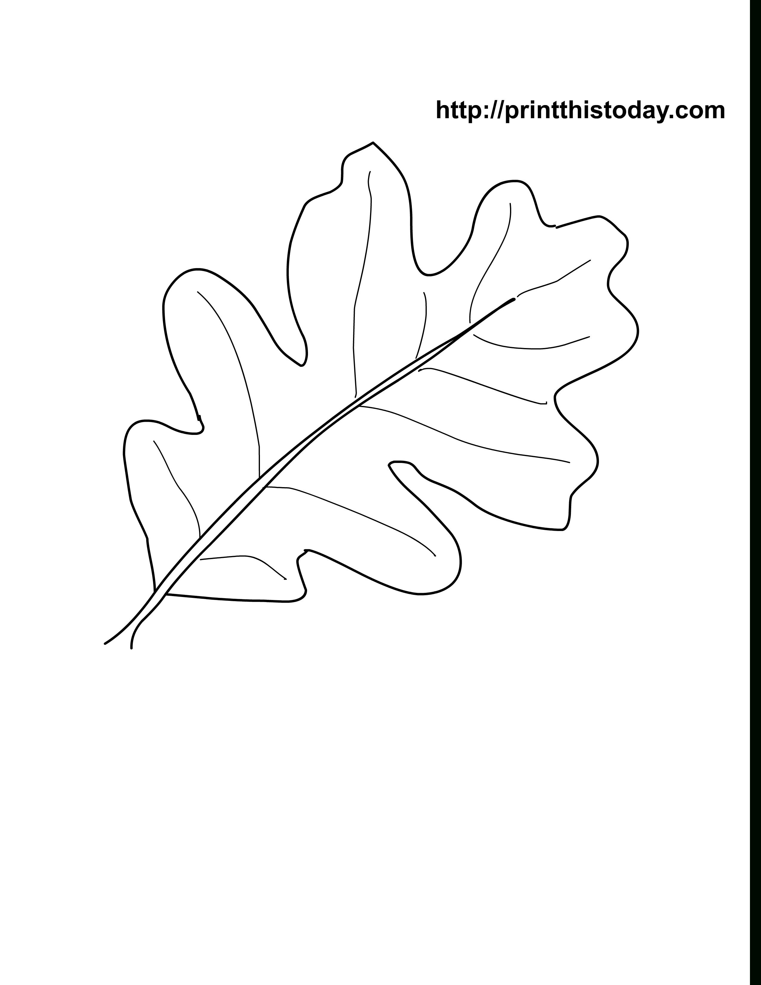 Oak Leaves Coloring Pages Printable | Craft Ideas | Pinterest - Free Printable Oak Leaf Patterns