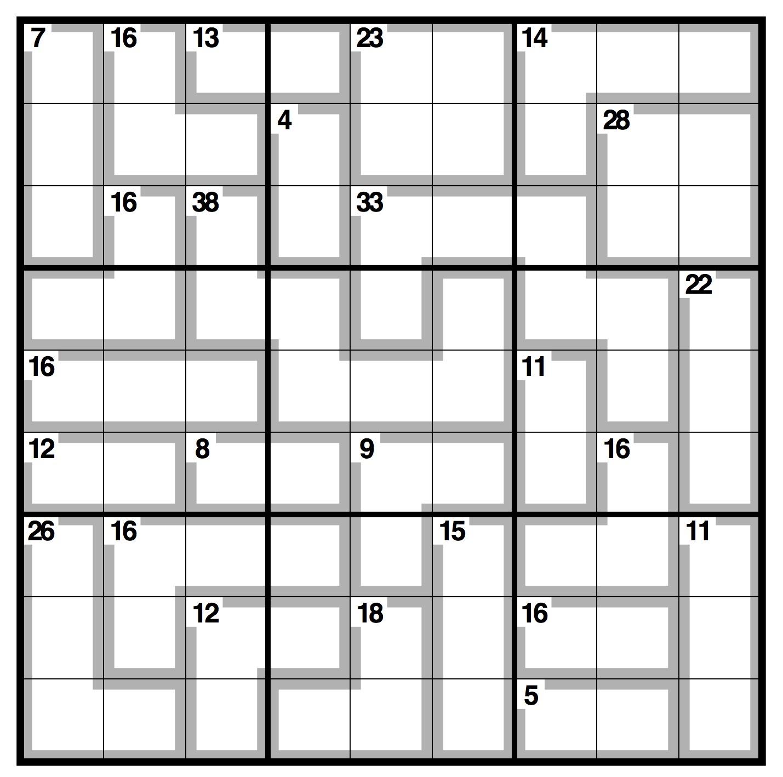 Observer Killer Sudoku   Life And Style   The Guardian - Killer Sudoku Free Printable