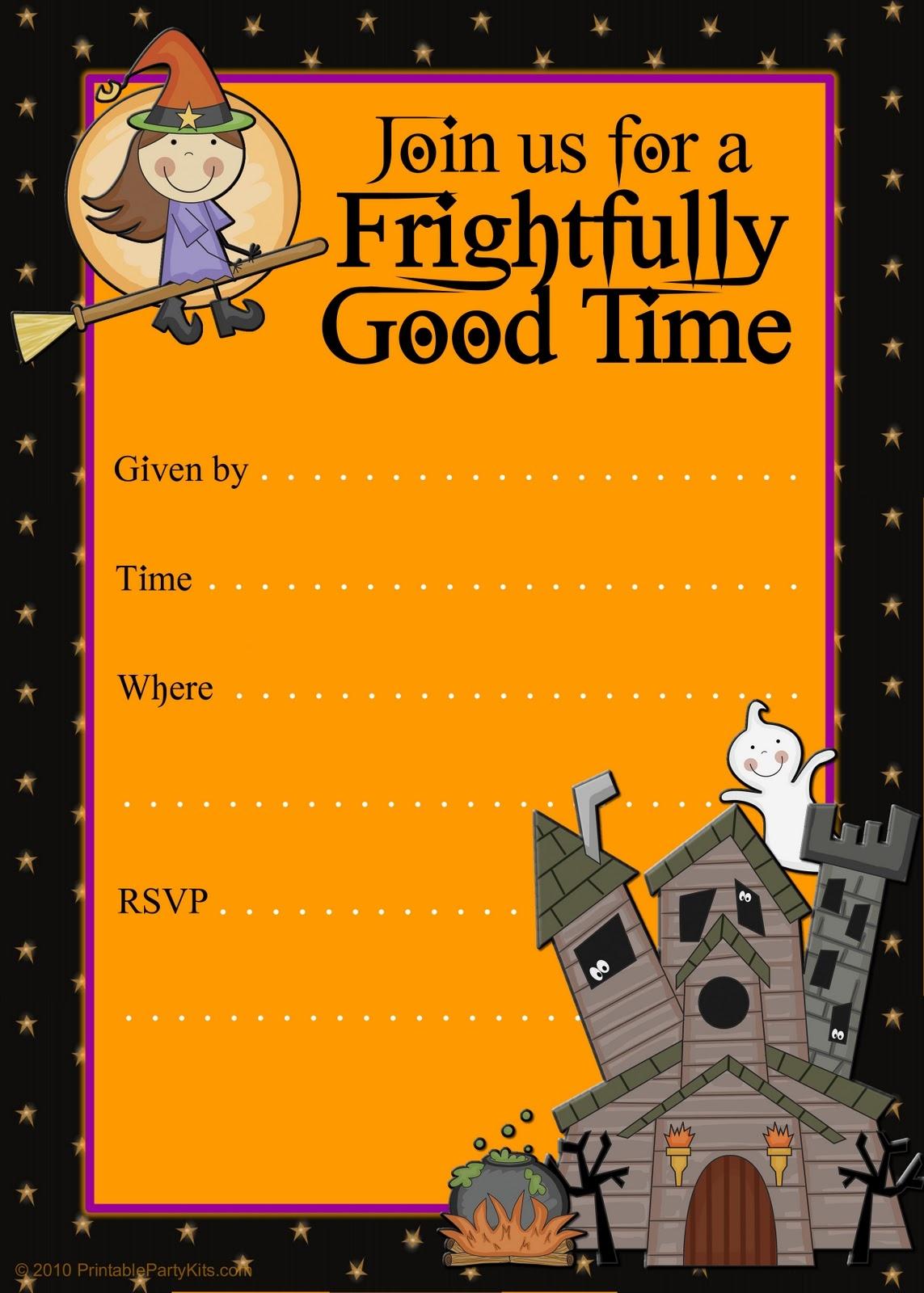 Of Free Printable Halloween Birthday Party Invitations On Printable - Free Printable Halloween Birthday Party Invitations