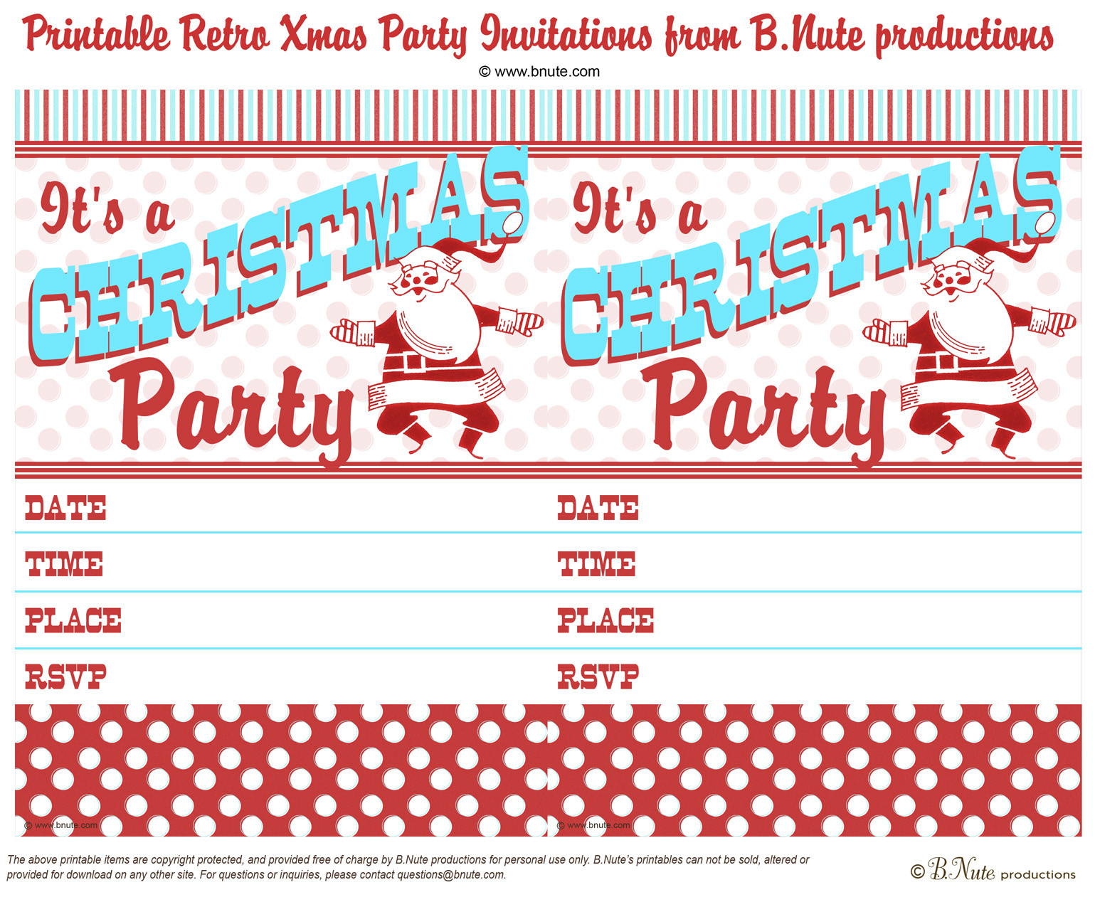 Office Christmas Invitation Templates Free Downloads Printable - Free Printable Christmas Party Flyer Templates