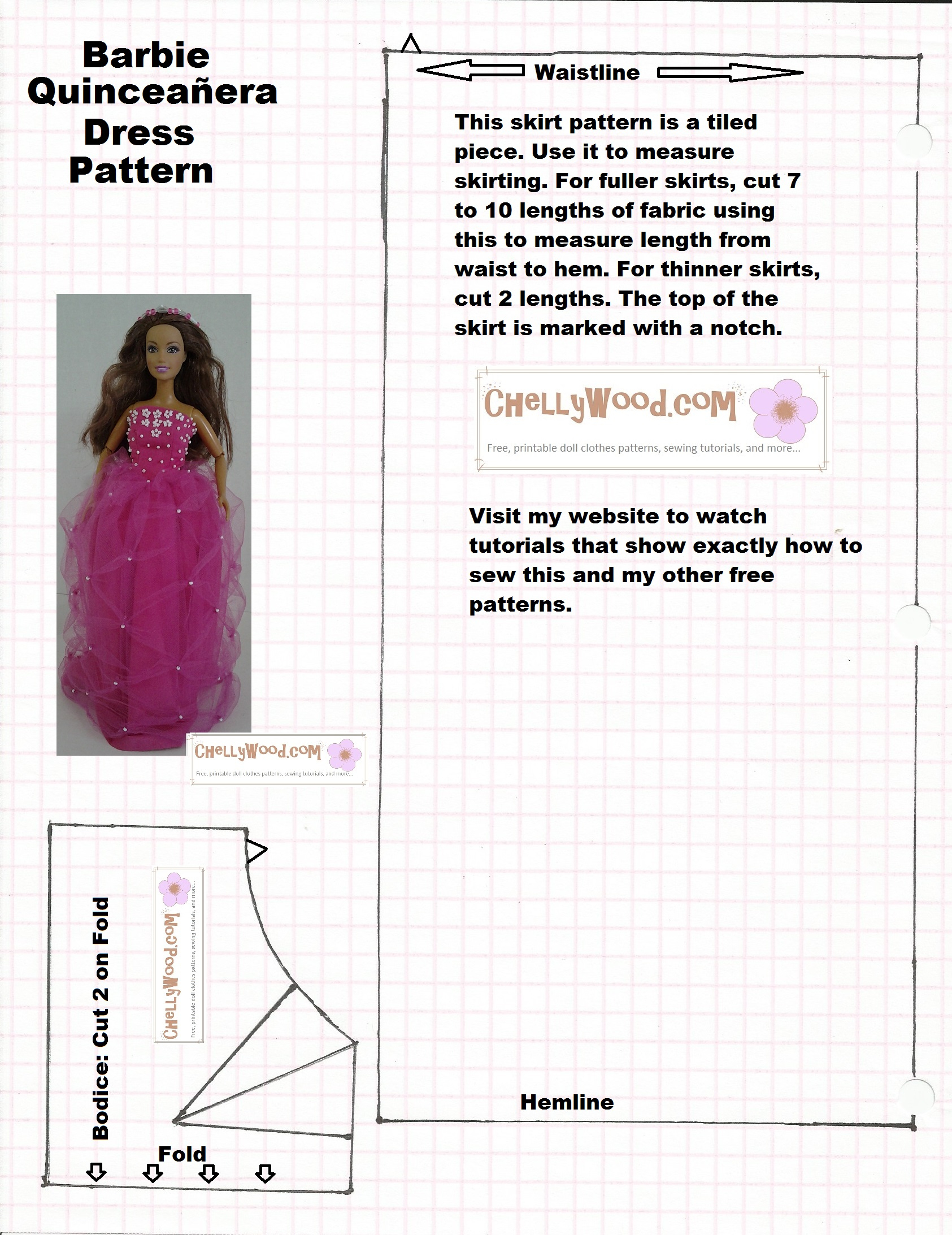 Old Pattern Page – Chellywood - Free Printable Patterns For Sewing Doll Clothes