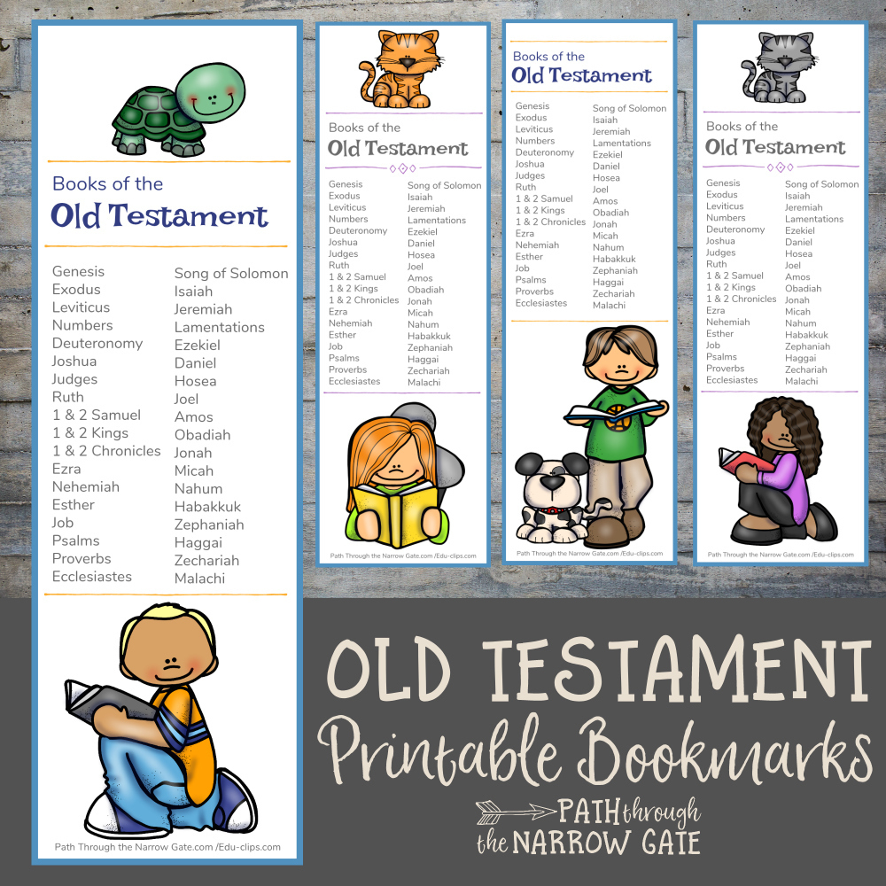Old Testament Bible Bookmarks - Path Through The Narrow Gate - Books Of The Bible Bookmark Printable Free