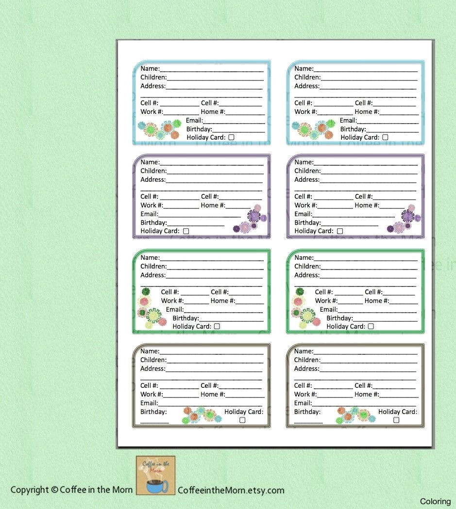 Online Address Book Printable With Free Sheets Plus Template - Free Printable Address Book Software