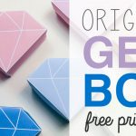 Origami Crystal Box Free Printable & Tutorial ♥ Diy ♥   Youtube   Printable Origami Instructions Free