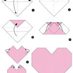 Origami Heart Instructions | Free Printable Papercraft Templates   Printable Origami Instructions Free