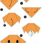 Origami Stepstep Instructions Of A Dog Face | Free Printable   Printable Origami Instructions Free