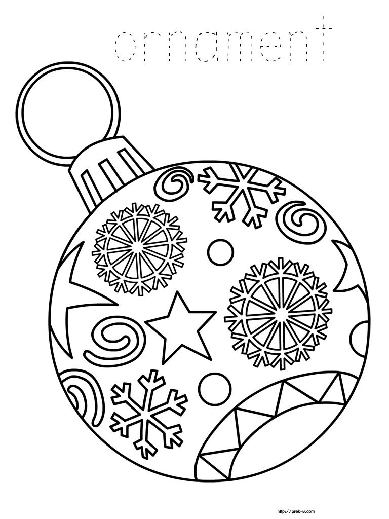 Ornament Coloring Page - Christmas | Christmas/winter Coloring - Free Printable Christmas Ornaments