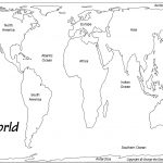 Outline Base Maps   Free Printable Map Of Continents And Oceans