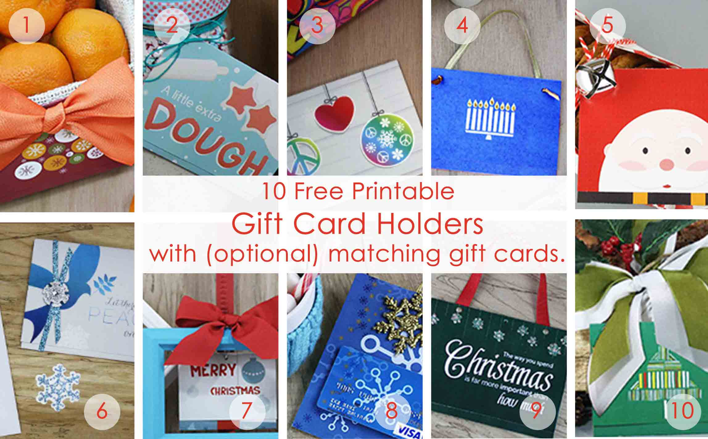 Over 50 Printable Gift Card Holders For The Holidays | Gcg - Free Printable Christmas Gift Cards