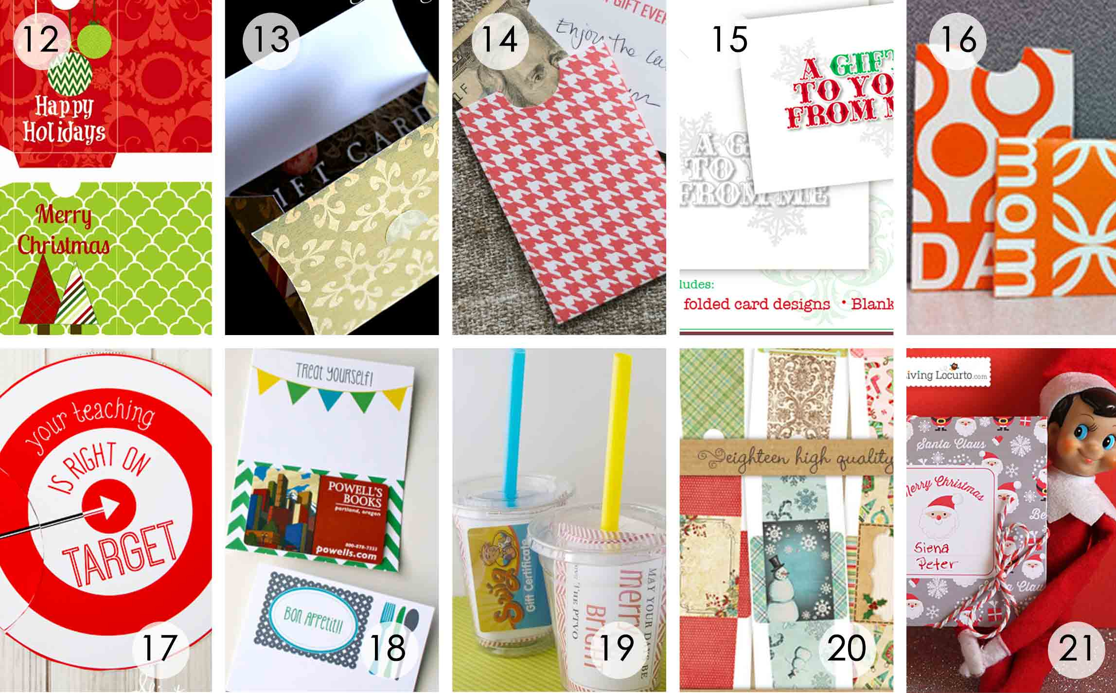 Over 50 Printable Gift Card Holders For The Holidays | Gcg - Free Printable Christmas Money Holders