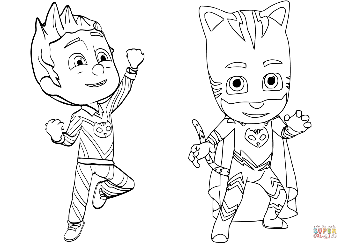 Pajama Hero Connor Is Catboy From Pj Masks Coloring Page | Free - Free Printable Pajama Coloring Pages