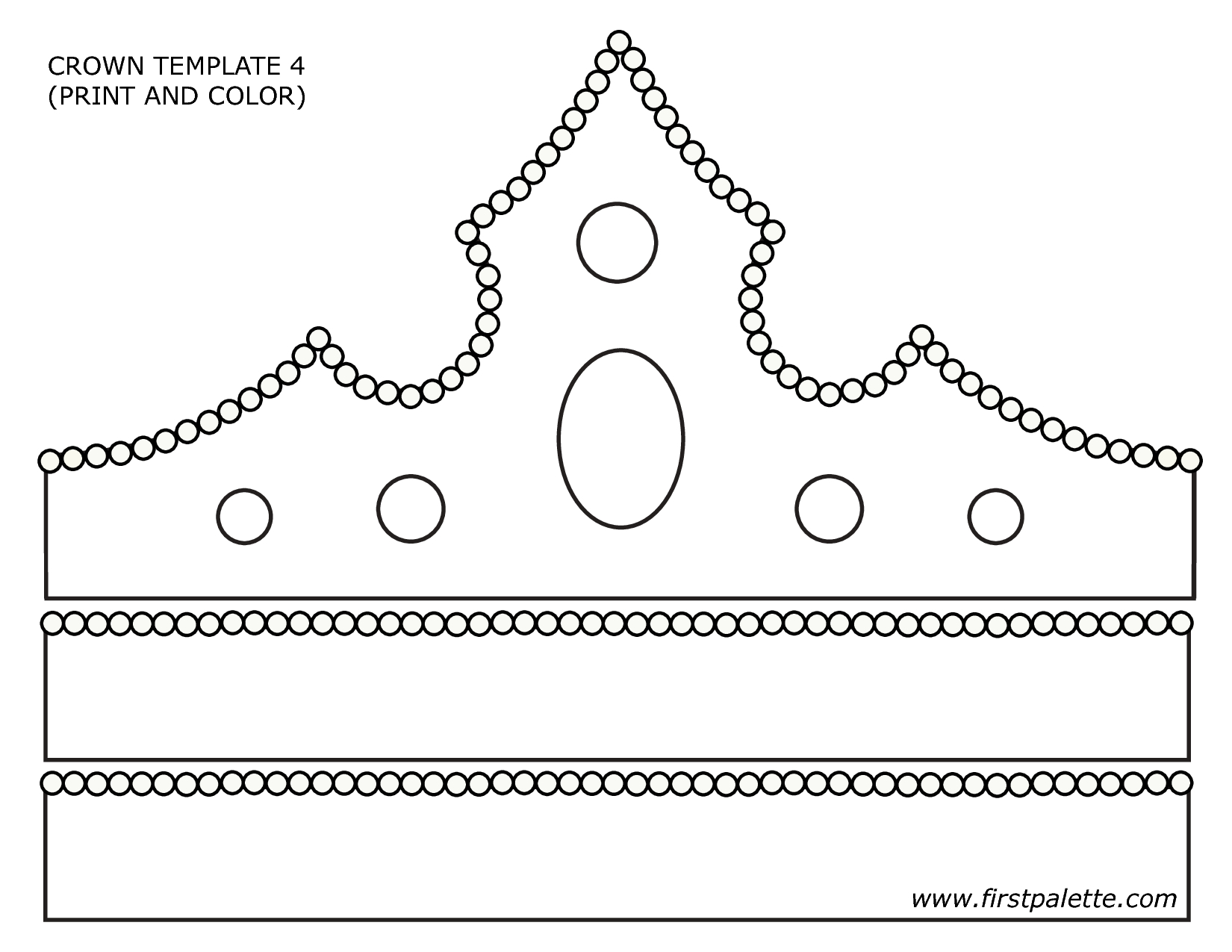Paper Crown Template - Google Search | Primary | Crown For Kids - Free Printable King Crown Template
