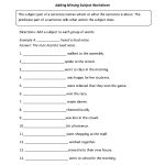 Parts Of A Sentence Worksheets | Subject And Predicate Worksheets   Free Printable Subject Predicate Worksheets 2Nd Grade