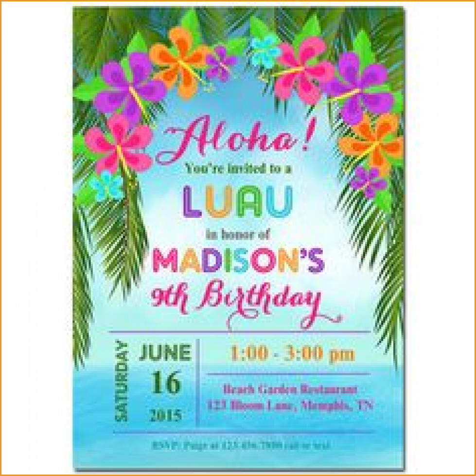 Party Invitations: Best Hawaiian Party Invitations Designs Hawaiian - Hawaiian Party Invitations Free Printable