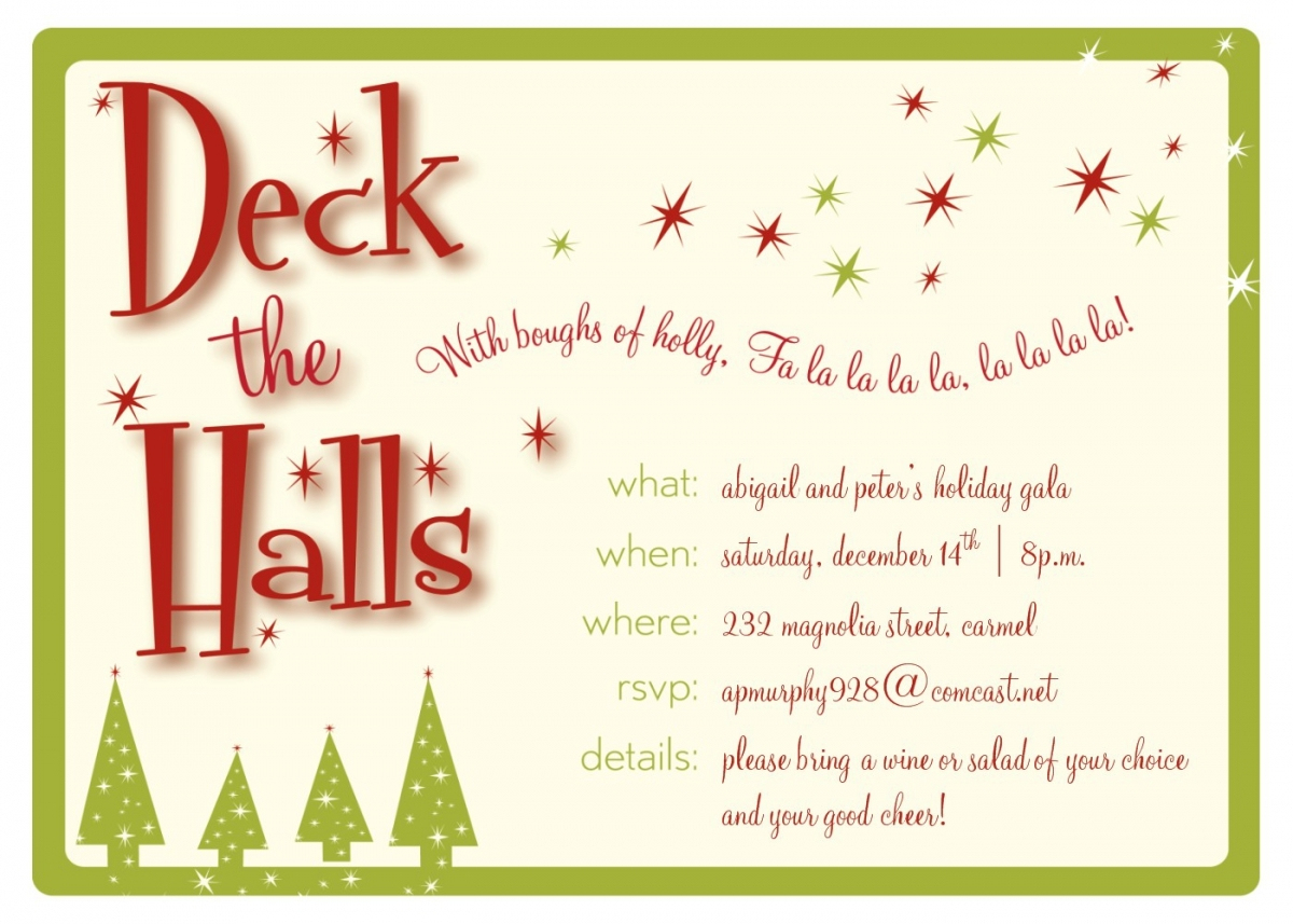 Party Invitations: Cool And Printable Christmas Party Invitations - Free Printable Christmas Party Invitations