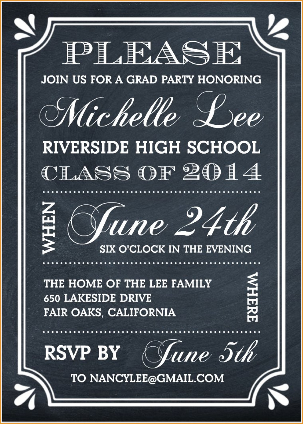 Party Invitations: Elegant Free Graduation Party Invitations Designs - Free Printable Graduation Party Invitations 2014