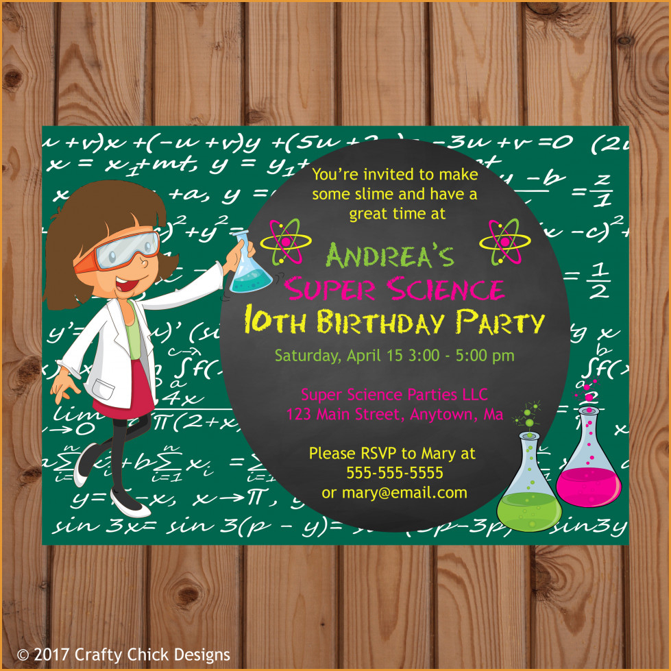 Party Invitations: Interesting Science Party Invitations Designs - Free Printable Science Birthday Party Invitations