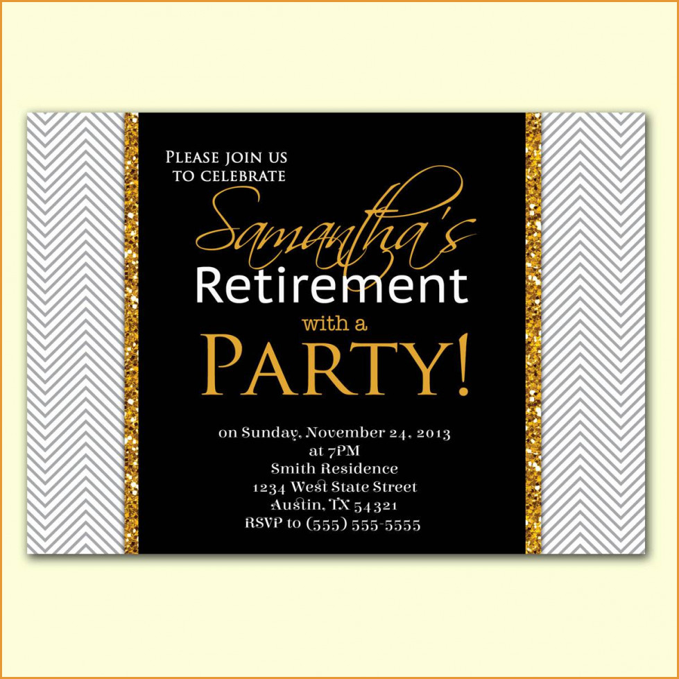 Party Invitations: Retirement Party Invitations Free Printable - Free Printable Retirement Party Invitations