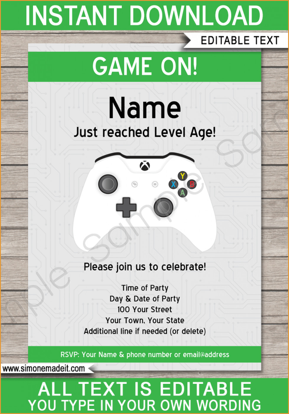 Party Invitations: Simple Video Game Party Invitations Designs Free - Free Printable Video Game Party Invitations