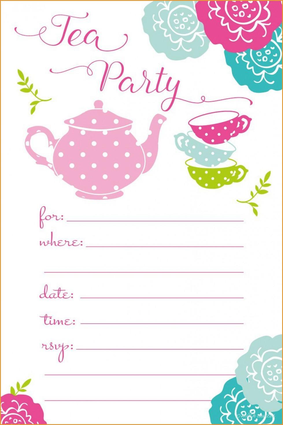 Party Invitations: Tea Party Invitations Adult Tea Party Invitations - Free Printable Polka Dot Birthday Party Invitations