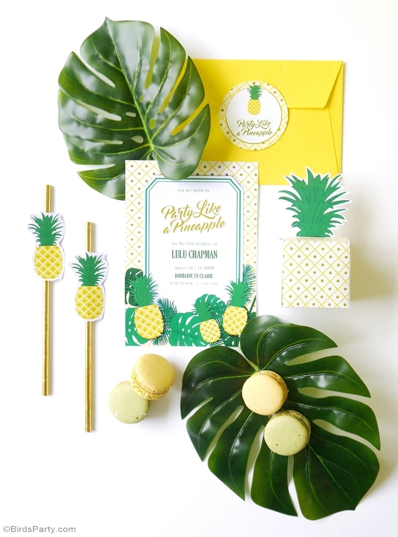 Party Like A Pineapple | A Tropical 25Th Birthday Party - Party - Free Printable Pineapple Invitations
