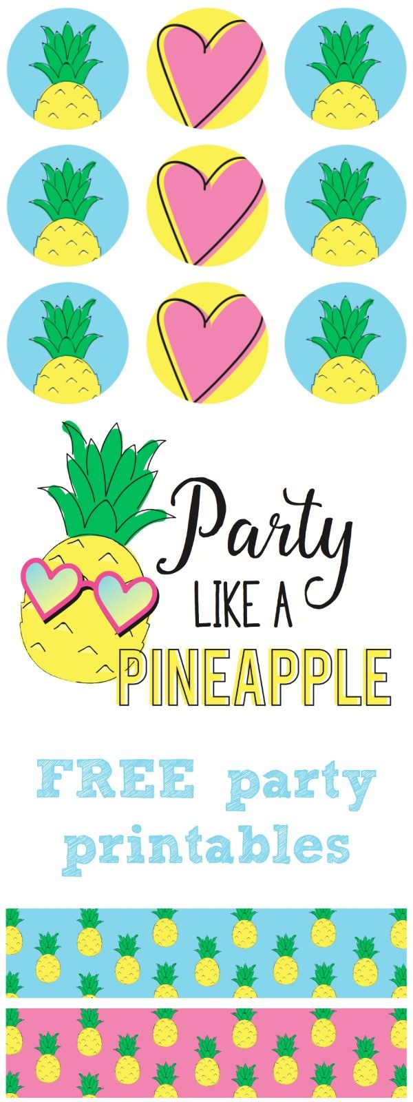 Party Like A Pineapple!!! Complete Free Printable Party Set <3 - Free Printable Pineapple Invitations
