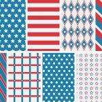 Patriotic 4Th Of July Digital Papers   Love Paper Crafts   Free Printable Patriotic Writing Paper