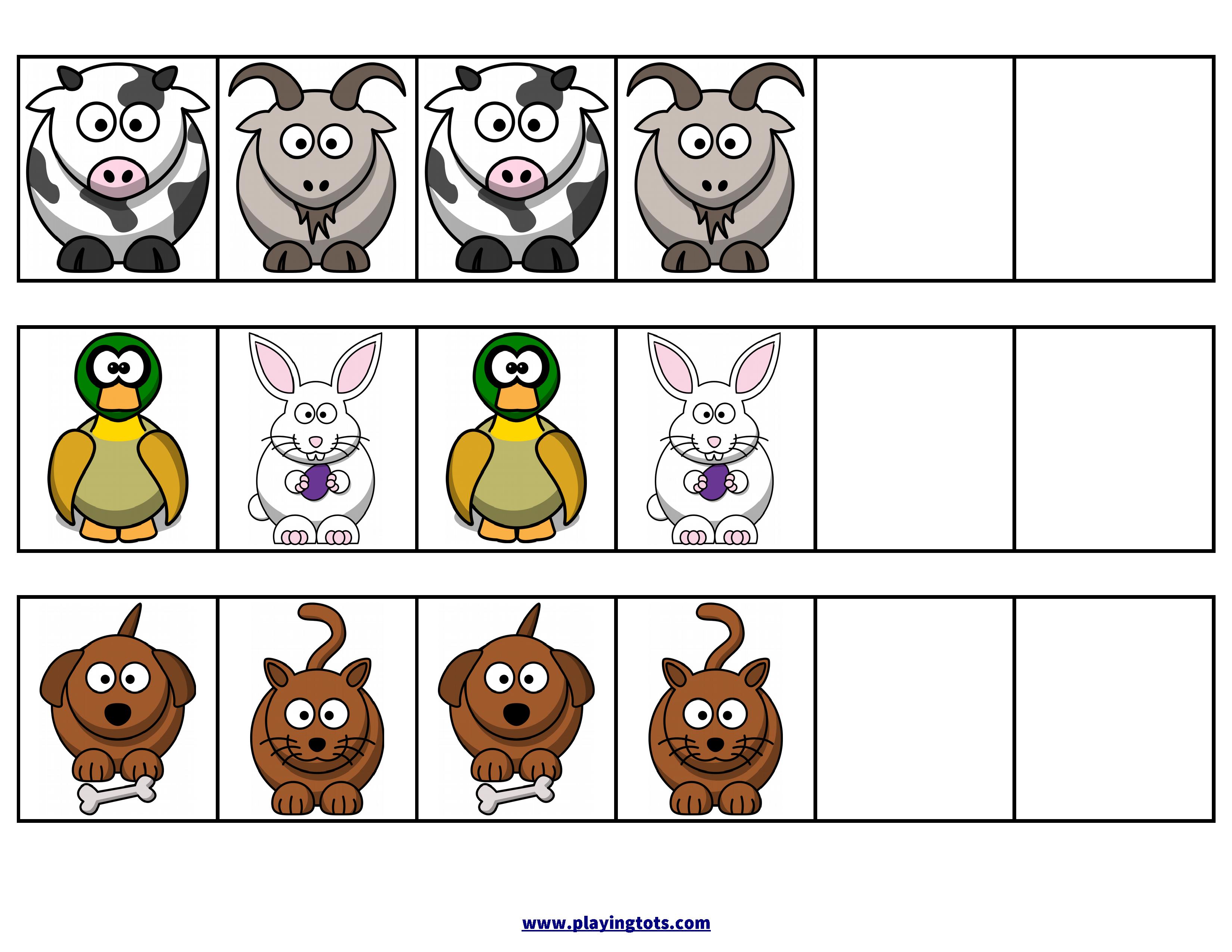 Pattern,animals,zoo,activity,free,printable,file,folder,toddler - Free Printable File Folders For Preschoolers