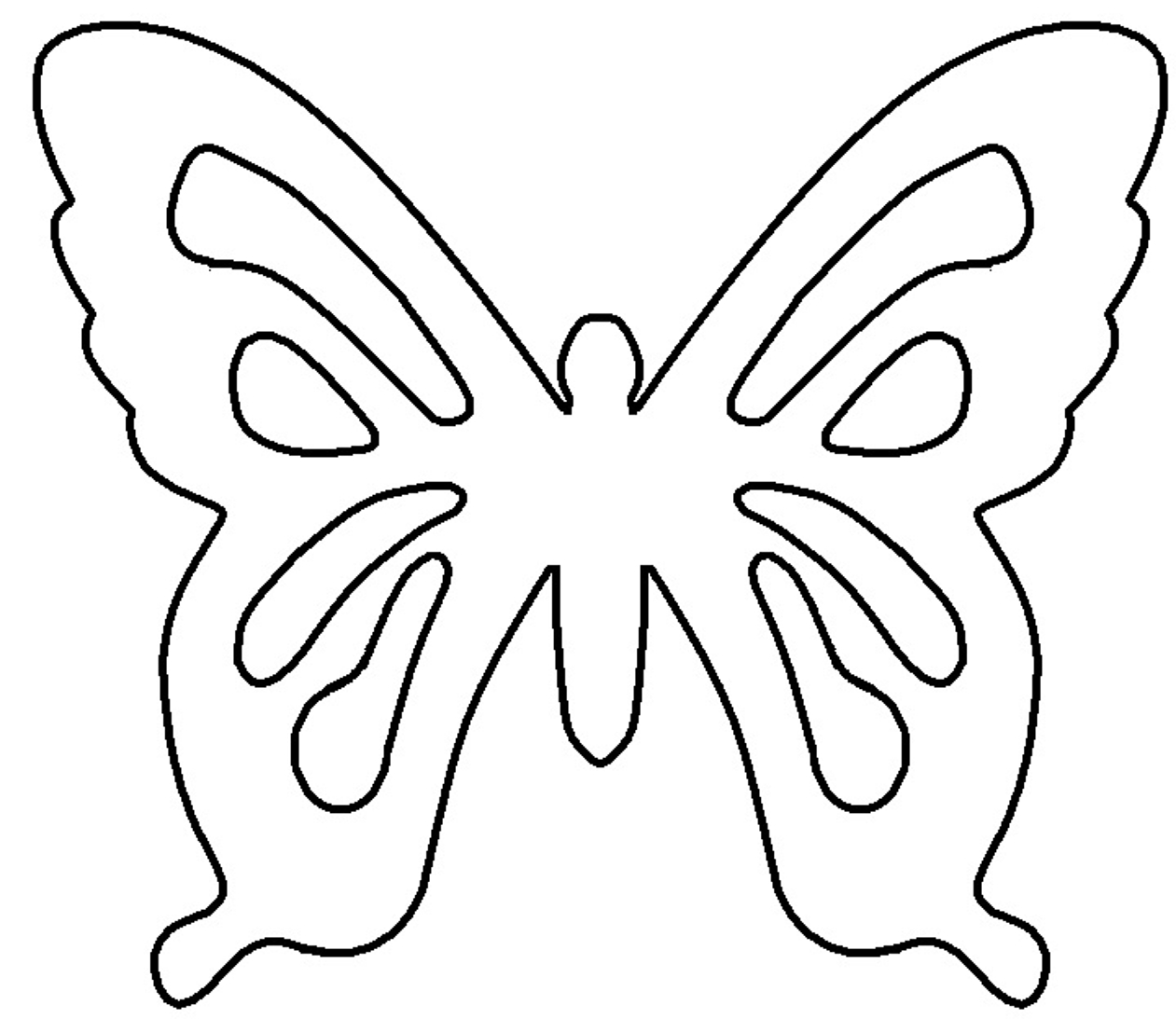 Patterns | My Heart Is A Flutter With Butterflies | Free Craft - Free Printable Butterfly Cutouts