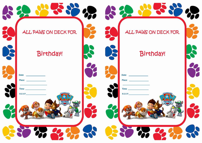 Paw Patrol Birthday Invitations | Birthday Printable - Free Printable Paw Patrol Invitations