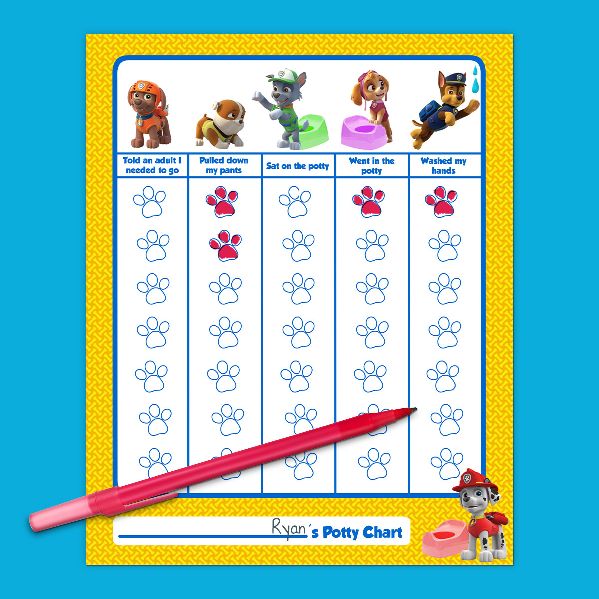 Paw Patrol Potty Training Chart | Nickelodeon Parents - Free Printable Potty Charts