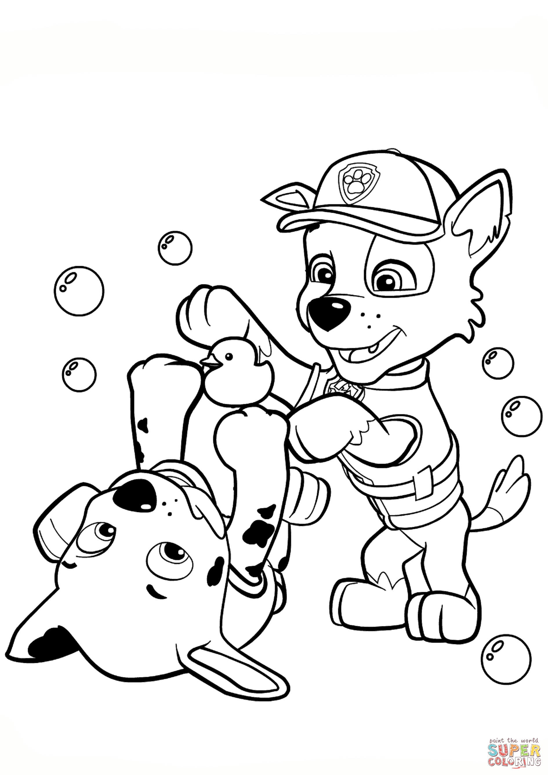 Paw Patrol Rocky And Marshall Coloring Page | Free Printable - Free Printable Paw Patrol Coloring Pages