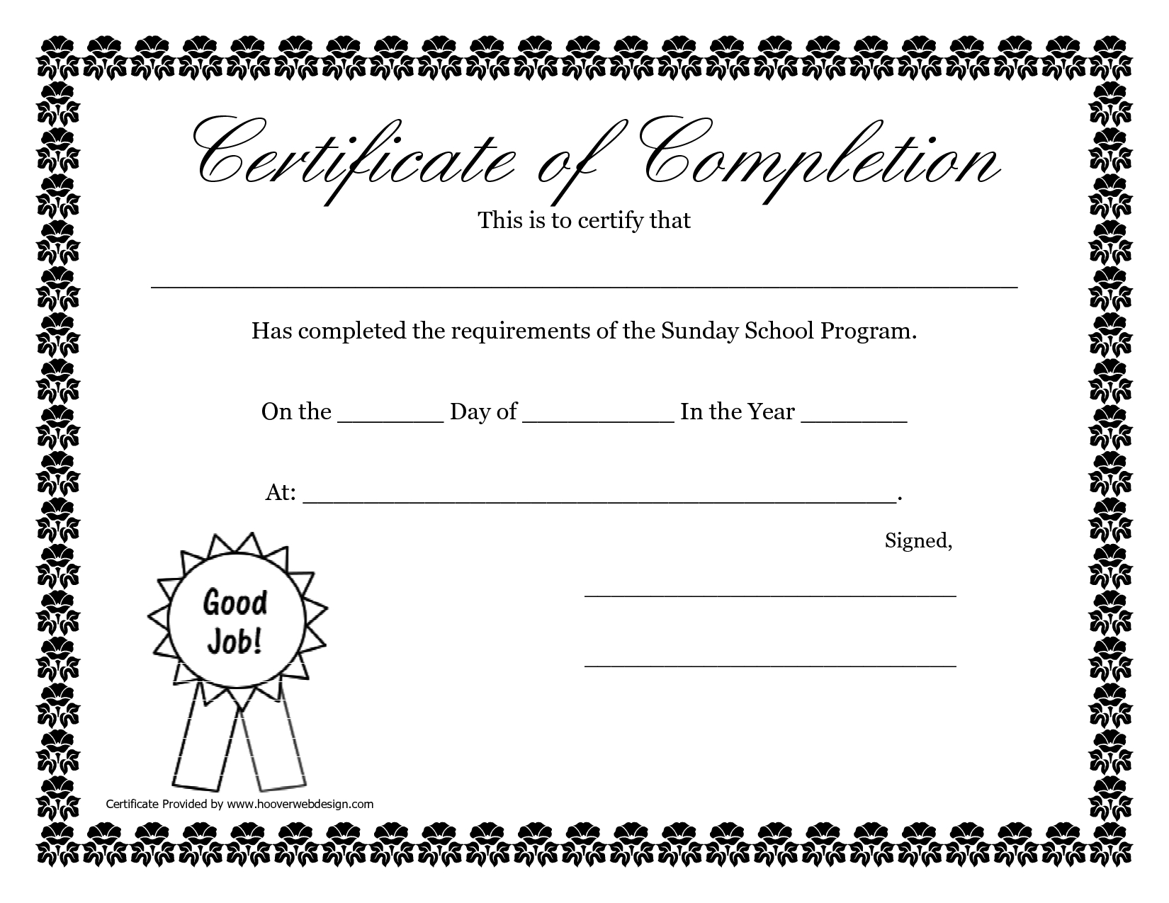 Pdf-Free-Certificate-Templates - Free Printable School Certificates Templates