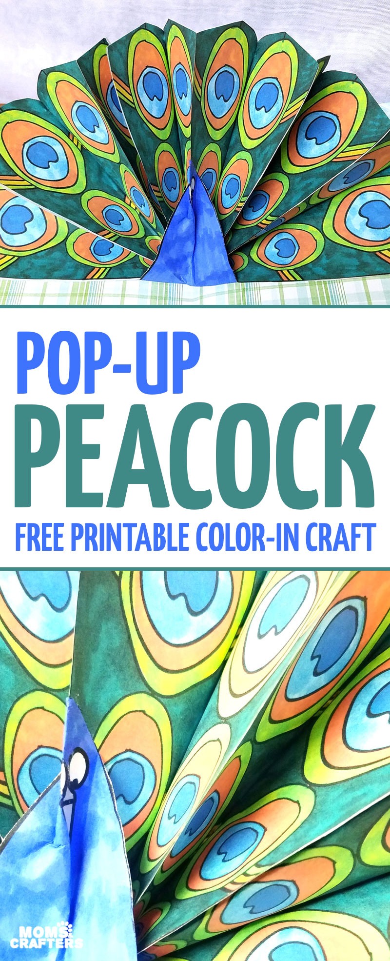 Peacock Craft – Pop Up Paper Peacock With Free Printable Feathers - Free Printable Peacock Pictures