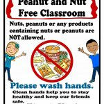 Peanut And Nut Free Classroom Poster. Free Printable Poster | Food   Printable Peanut Free Classroom Signs
