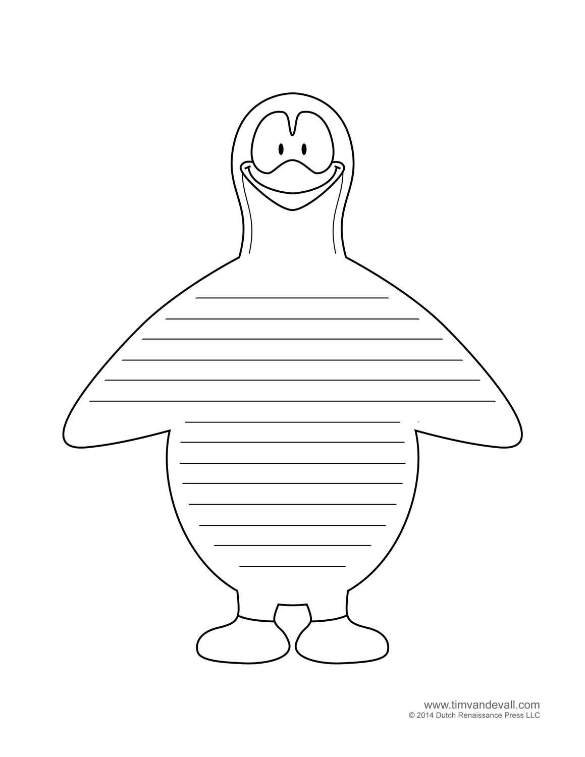 Penguin Template, Coloring Pages, Clipart Pictures And Crafts - Free Printable Penguin Books