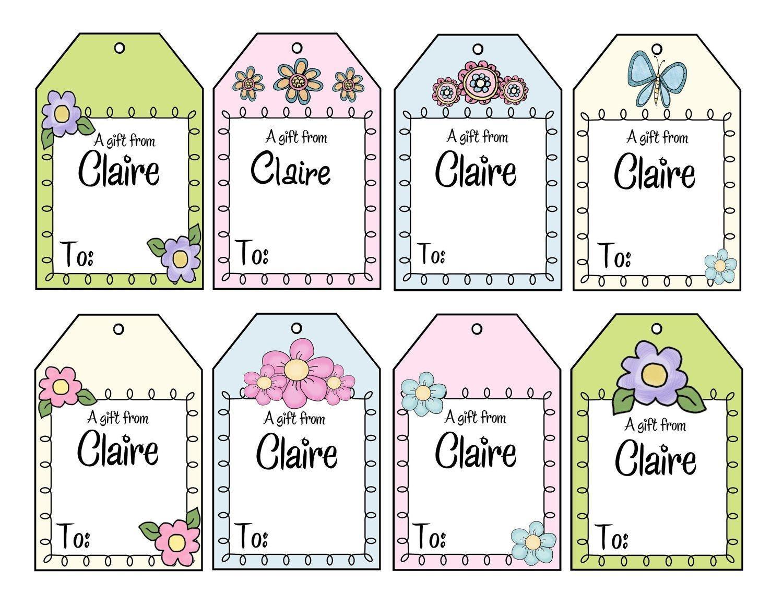 Personalised Christmas Gift Tags Printable ✓ The Christmas Gifts - Free Printable Customizable Gift Tags