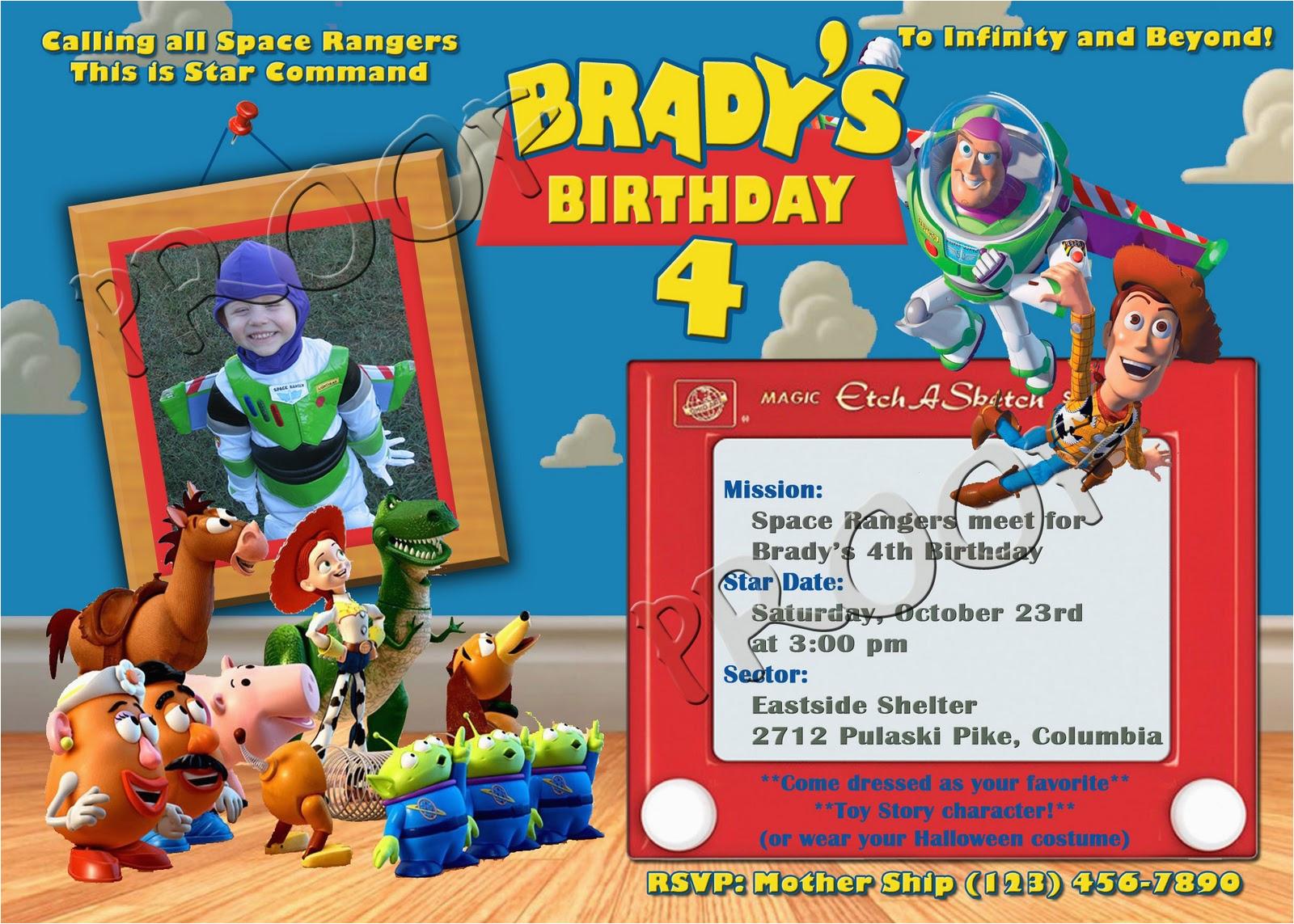 Personalized Toy Story Birthday Invitations | Birthdaybuzz - Free Printable Toy Story 3 Birthday Invitations