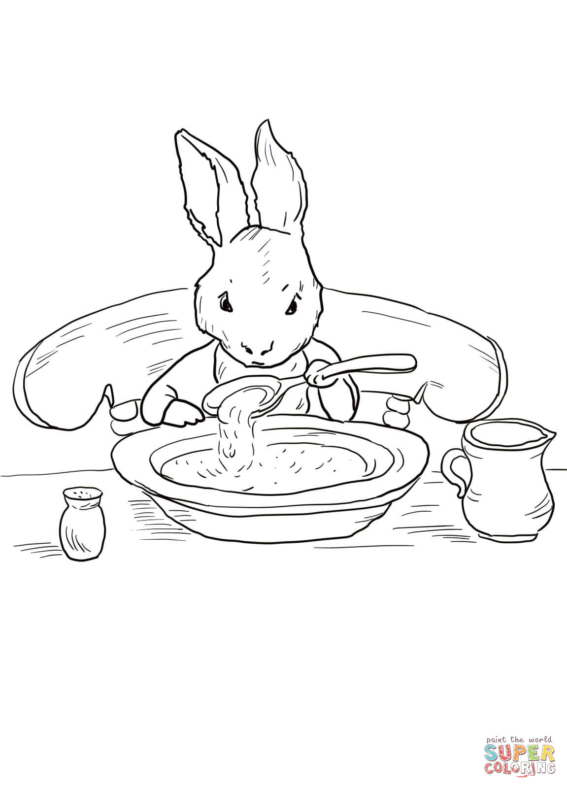 Peter Rabbit At Home Coloring Page | Free Printable Coloring Pages - Free Printable Peter Rabbit Coloring Pages