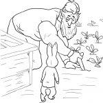 Peter Rabbit Is Spottedmr Mcgregor Coloring Page   Free   Free Printable Peter Rabbit Coloring Pages