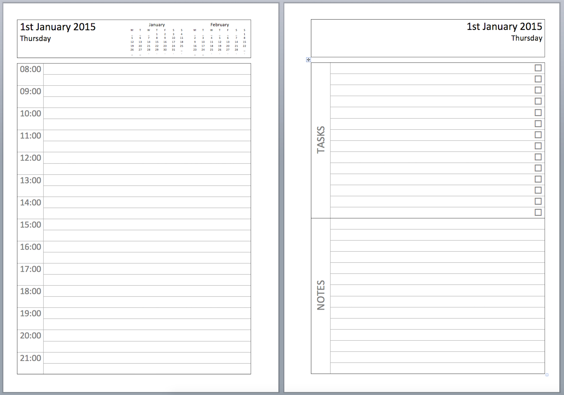 Philofaxy: Diary Inserts - Free Printable Diary Pages