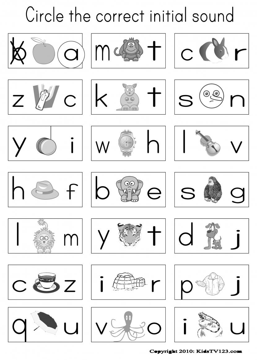 Phonics Worksheets For Kindergarten Free Koogra Wallpapercraft - Phonics Pictures Printable Free