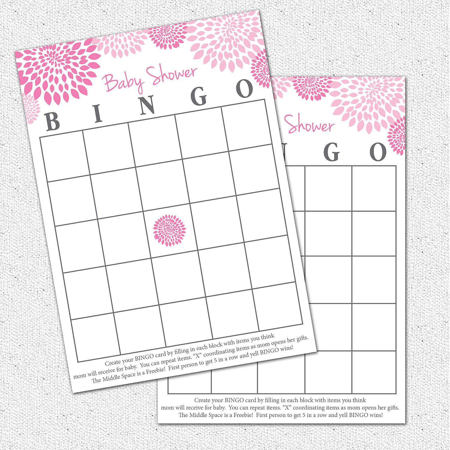 Photo : Baby Shower Baby Bingo Image - Baby Bingo Game Free Printable