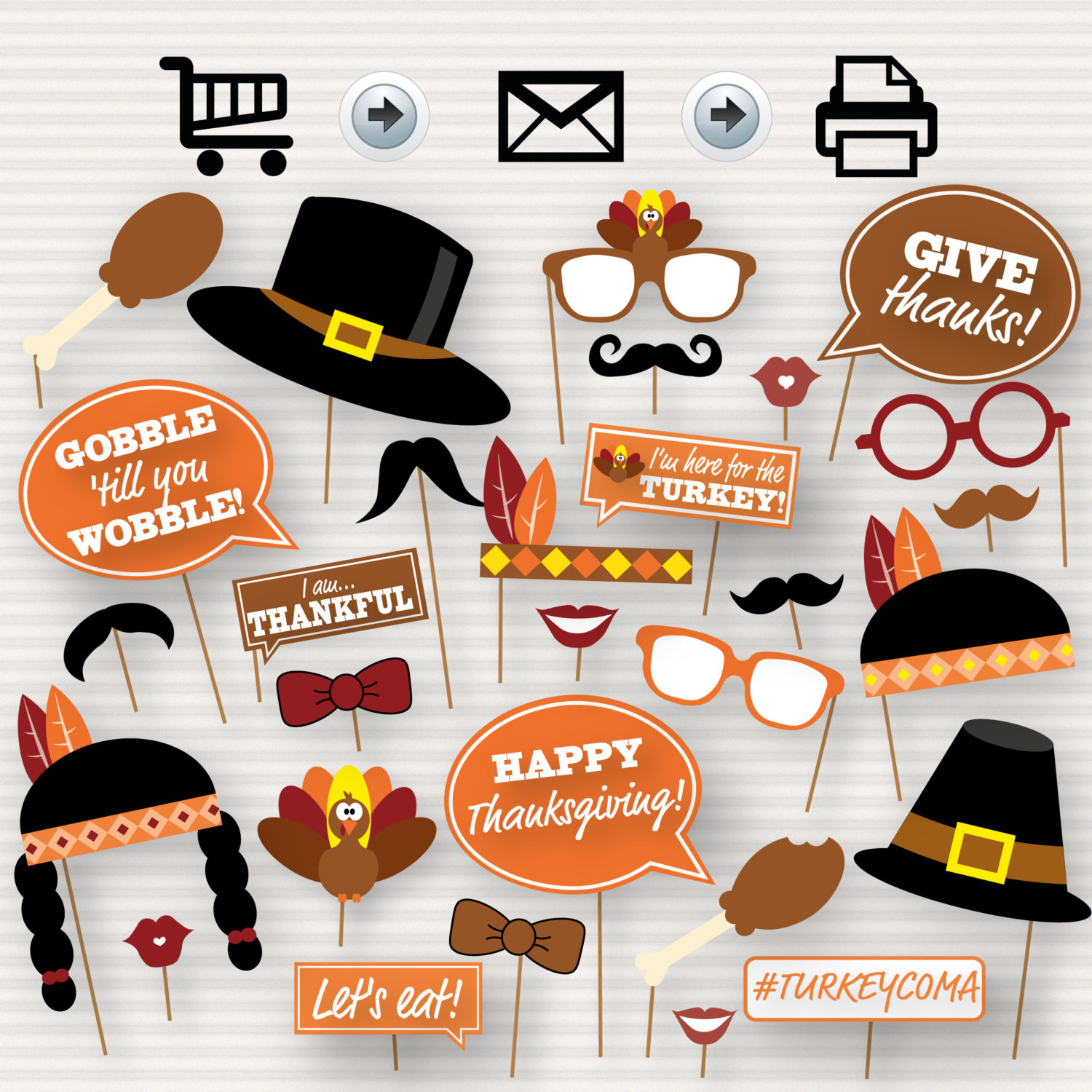 Photo Booth Prop Thanksgiving Template – Festival Collections - Free Printable Thanksgiving Photo Props